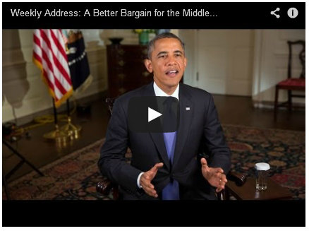Weekly Address: A Better Bargain for the Middle Class
