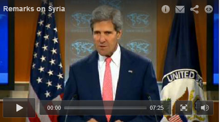Secretary of State Kerry's Remarks on Syria