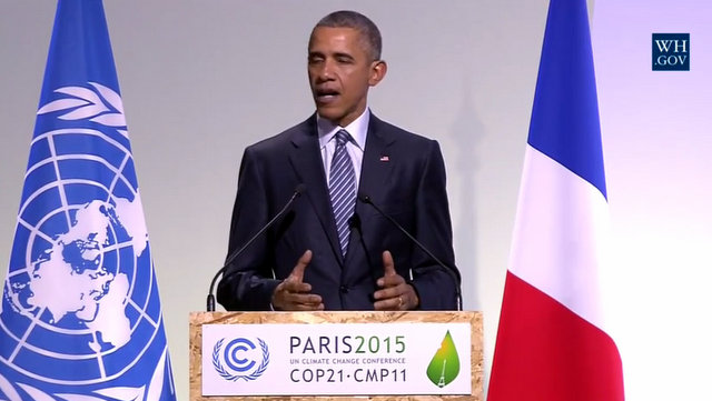 President Obama Speaks At Paris Climate Summit