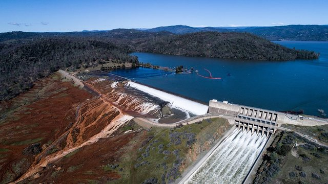 Flows From Damaged Oroville Auxiliary Spillway Have Ceased
