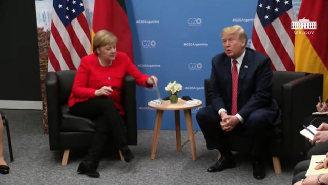President Trump and Chancellor Merkel of Germany at G-20