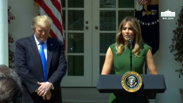 President Trump at the National Day of Prayer Service