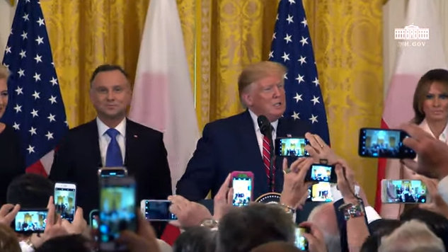 President Trump and President Duda of the Republic of Poland at the Polish-American Reception