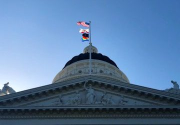 Governor Newsom Celebrates LGBTQ Pride Month by Flying Rainbow Flag Over the State Capitol