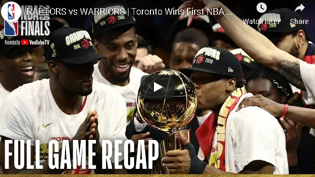 Decimated By Injuries Warriors Can't Hold Off Toronto as Raptors Take First NBA Title