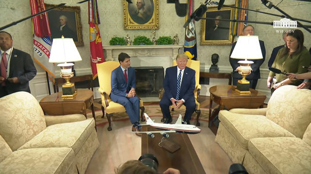"""President Trump and Prime Minister Trudeau of Canada Ahead of Bilateral Meeting.  Trump Iran Response..""""You'll find out."""""""