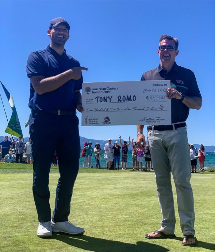 Tony Romo Takes Another American Century Championship at Lake Tahoe!