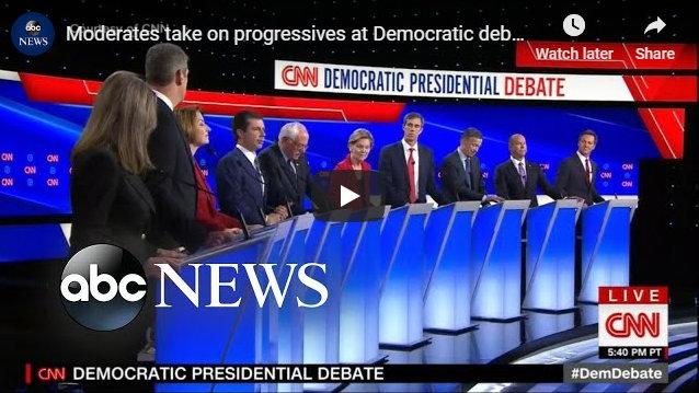 Moderates Take on Progressives at Democratic Debate