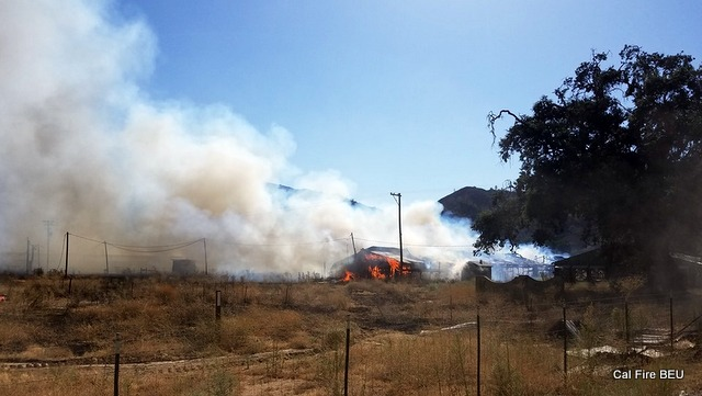 5 Buildings Damaged or Destroyed in 17 Acres Hollister Area Fire