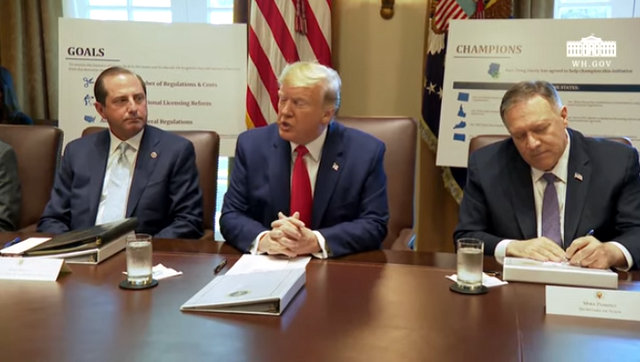 President Trump Holds Wide Ranging Cabinet Meeting