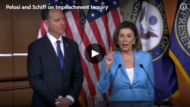 Pelosi's Weekly Press Conference from Today with Rep. Adam Schiff.  Impeachment Focus of Briefing