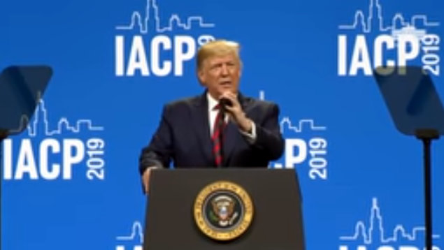 President Trump at International Association of Chiefs of Police Annual Conference and Exposition