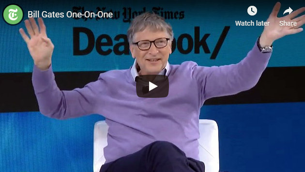 Bill Gates at The New York Times Conference, Including Comments on Taxes