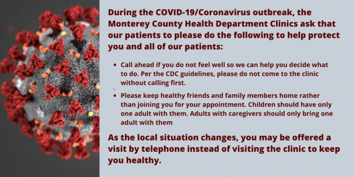 First Confirmed Cases of COVID-19 Among Monterey County Residents