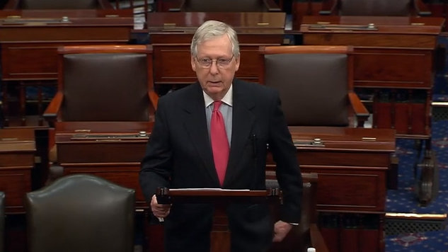 "McConnell on Bipartisan Coronavirus Relief: ""The Senate Stepped Up"" as Senate Passes $2 Trillion Stimulus Bill 96-0"
