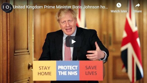 Prime Minister Boris Johnson on Testing Positive for Coronavirus.