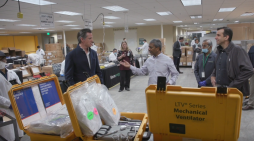 Governor Newsom and Mayor Liccardo Tour Bloom Energy, Which is Refurbishing Ventilators for Use in California Hospitals During COVID-19 Outbreak